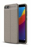 Dafoni Liquid Shield Premium Huawei Y6 2018 Gri Silikon Kılıf