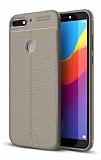 Dafoni Liquid Shield Premium Huawei Y7 2018 Gri Silikon Kılıf