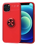 Eiroo Liquid Ring iPhone 13 Mini Kırmızı Silikon Kılıf
