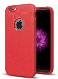 Dafoni Liquid Shield Premium iPhone 6 / 6S Kırmızı Silikon Kılıf