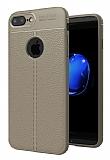 Dafoni Liquid Shield Premium iPhone 7 Plus / 8 Plus Gri Silikon Kılıf