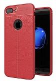 Dafoni Liquid Shield Premium iPhone 7 Plus / 8 Plus Kırmızı Silikon Kılıf