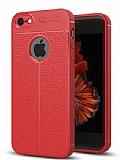 Dafoni Liquid Shield Premium iPhone SE / 5 / 5S Kırmızı Silikon Kılıf