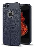 Dafoni Liquid Shield Premium iPhone SE / 5 / 5S Lacivert Silikon Kılıf