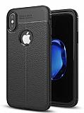 Dafoni Liquid Shield Premium iPhone X Siyah Silikon Kılıf