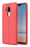 Dafoni Liquid Shield Premium LG G7 ThinQ Kırmızı Silikon Kılıf