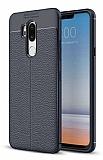 Dafoni Liquid Shield Premium LG G7 ThinQ Lacivert Silikon Kılıf