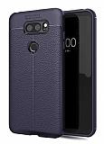 Dafoni Liquid Shield Premium LG V30 Lacivert Silikon Kılıf