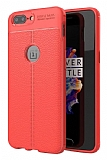 Dafoni Liquid Shield Premium OnePlus 5 Kırmızı Silikon Kılıf