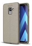 Dafoni Liquid Shield Premium Samsung Galaxy A6 2018 Dark Silver Silikon Kılıf