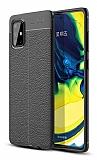 Dafoni Liquid Shield Premium Samsung Galaxy A71 Siyah Silikon Kılıf