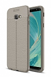 Dafoni Liquid Shield Premium Samsung Galaxy J4 Plus Gri Silikon Kılıf