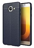 Dafoni Liquid Shield Premium Samsung Galaxy J7 Max Lacivert Silikon Kılıf