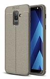 Dafoni Liquid Shield Premium Samsung Galaxy J8 Gri Silikon Kılıf
