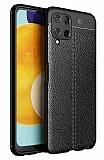 Dafoni Liquid Shield Premium Samsung Galaxy M32 Siyah Silikon Kılıf