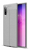 Dafoni Liquid Shield Premium Samsung Galaxy Note 10 Gri Silikon Kılıf