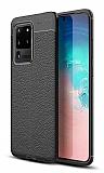 Dafoni Liquid Shield Premium Samsung Galaxy S20 Ultra Siyah Silikon Kılıf