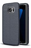 Dafoni Liquid Shield Premium Samsung Galaxy S7 Edge Lacivert Silikon Kılıf