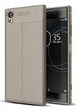 Dafoni Liquid Shield Premium Sony Xperia XA1 Plus Gri Silikon Kılıf
