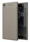 Dafoni Liquid Shield Premium Sony Xperia XA1 Ultra Gri Silikon Kılıf