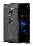 Dafoni Liquid Shield Premium Sony Xperia XZ2 Siyah Silikon Kılıf