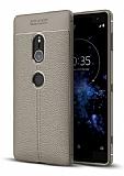 Dafoni Liquid Shield Premium Sony Xperia XZ2 Gri Silikon Kılıf