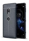 Dafoni Liquid Shield Premium Sony Xperia XZ2 Lacivert Silikon Kılıf