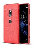 Dafoni Liquid Shield Premium Sony Xperia XZ2 Kırmızı Silikon Kılıf