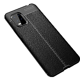 Dafoni Liquid Shield Premium Xiaomi Mi 10 Lite Siyah Silikon Kılıf