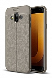 Dafoni Liquid Shield Premium Samsung Galaxy J7 Duo Gri Silikon Kılıf