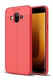 Dafoni Liquid Shield Premium Samsung Galaxy J7 Duo Kırmızı Silikon Kılıf