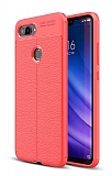Dafoni Liquid Shield Premium Xiaomi Mi 8 Lite Kırmızı Silikon Kılıf