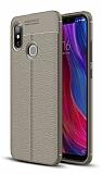Dafoni Liquid Shield Premium Xiaomi Mi 8 Dark Silver Silikon Kılıf