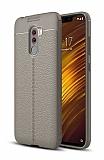 Dafoni Liquid Shield Premium Xiaomi Pocophone F1 Dark Silver Silikon Kılıf