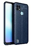 Dafoni Liquid Shield Realme C21 Ultra Koruma Lacivert Silikon Kılıf