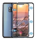 Dafoni Magnet Glass Huawei Mate 20 Pro 360 Derece Koruma Cam Siyah Kılıf