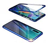 Dafoni Magnet Glass Huawei P20 360 Derece Koruma Cam Mavi Kılıf