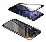 Dafoni Magnet Glass Huawei P20 Pro 360 Derece Koruma Cam Siyah Kılıf