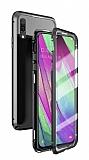 Dafoni Magnet Glass Huawei P30 Lite 360 Derece Koruma Cam Siyah Kılıf