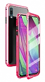 Dafoni Magnet Glass Huawei P30 Lite 360 Derece Koruma Cam Kırmızı Kılıf