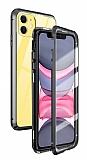 Dafoni Magnet Glass iPhone 11 360 Derece Koruma Cam Siyah Kılıf
