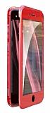 Dafoni Magnet Glass iPhone 7 Plus / 8 Plus 360 Derece Koruma Cam Kırmızı Kılıf