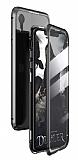 Dafoni Magnet Glass iPhone XR 360 Derece Koruma Cam Siyah Kılıf