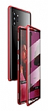 Dafoni Magnet Glass Samsung Galaxy Note 10 Plus 360 Derece Koruma Cam Kırmızı Kılıf