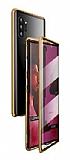 Dafoni Magnet Glass Samsung Galaxy Note 10 Plus 360 Derece Koruma Cam Gold Kılıf