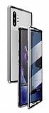 Dafoni Magnet Glass Samsung Galaxy Note 10 Plus 360 Derece Koruma Cam Silver Kılıf