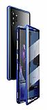 Dafoni Magnet Glass Samsung Galaxy Note 10 Plus 360 Derece Koruma Cam Mavi Kılıf
