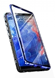 Dafoni Magnet Glass Samsung Galaxy Note 8 360 Derece Koruma Cam Lacivert Kılıf