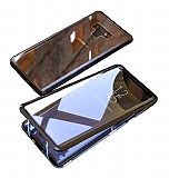 Dafoni Magnet Glass Samsung Galaxy Note 9 360 Derece Koruma Cam Siyah Kılıf