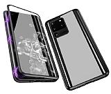 Dafoni Magnet Glass Samsung Galaxy S20 Ultra 360 Derece Koruma Cam Siyah Kılıf